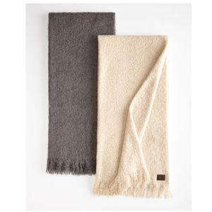 UGG Cream Luxe Mohair Throw blankets